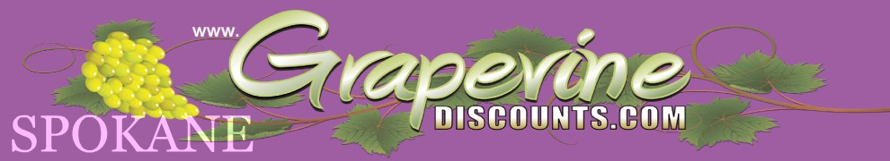 Grapevine Discounts in Spokane, Washington: GrapevineDiscounts.com/Spokane